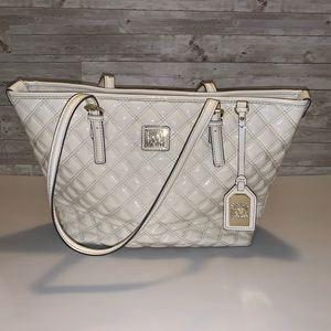 5 for $30 Anne Klein Patent Leather Purse Cream